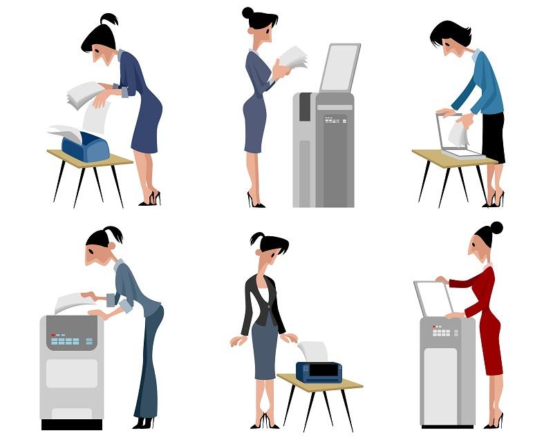Doch Drucker können mittlerweile weit mehr, als nur einfache Texte auszudrucken: sie arbeiten als Scanner, Kopierer oder Fax, sie können Dateien, Bilder oder E-Mails in bestimmte Dokumentenformate umwandeln, etwa Scan-to-PDF oder Scan-to-Mail. (#03)