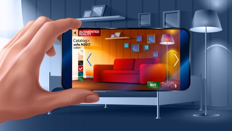 Mi den neuen Augmented-Reality-Apps können die Kunden alle Möbel oder Deko-Artikel virtuell in den eigenen Räumen platzieren und die optische Wirkung realistisch beurteilen. (#4)