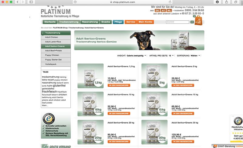 PLATINUM Hundefutter Test: Großes Sparpotenzial bei Mehrmengenabnahme!