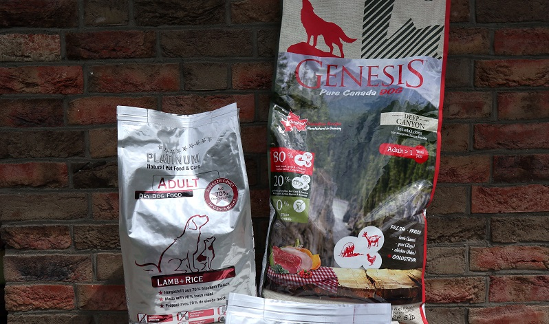 GENESIS DEEP CANYON und PLATINUM ADULT LAMB+RICE im Trockenfutter Test.